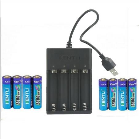 Kentli Batteri Pakke med Lader